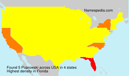 Surname Poprowski in USA