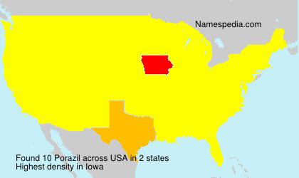 Surname Porazil in USA