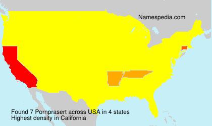 Surname Pornprasert in USA