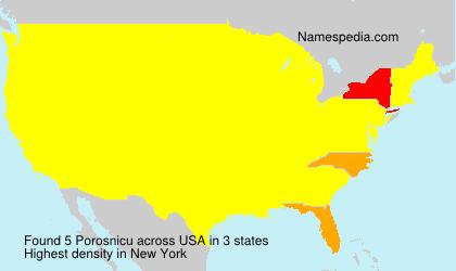 Surname Porosnicu in USA