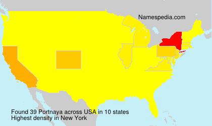 Surname Portnaya in USA