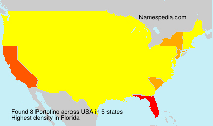 Surname Portofino in USA
