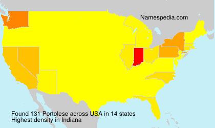 Familiennamen Portolese - USA