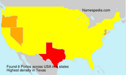 Surname Portos in USA
