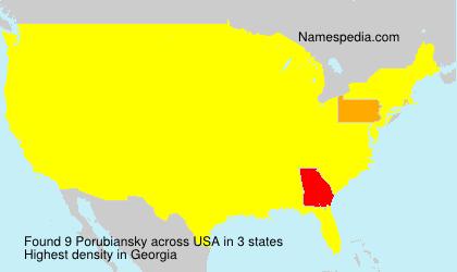 Surname Porubiansky in USA