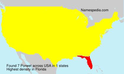Surname Porwet in USA