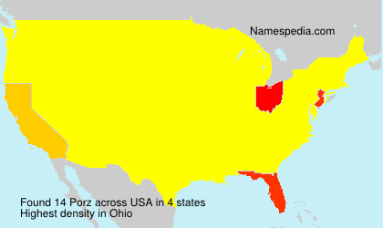 Surname Porz in USA