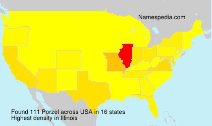 Surname Porzel in USA