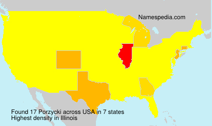 Surname Porzycki in USA