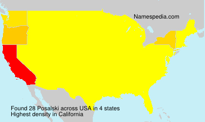 Surname Posalski in USA