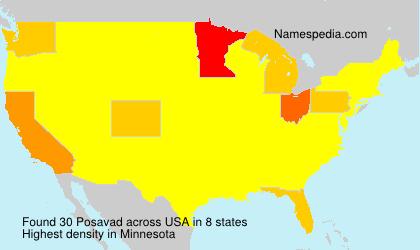 Surname Posavad in USA