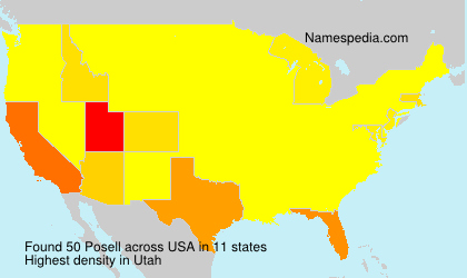 Surname Posell in USA