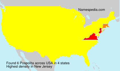 Surname Pospolita in USA