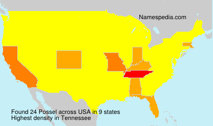 Surname Possel in USA