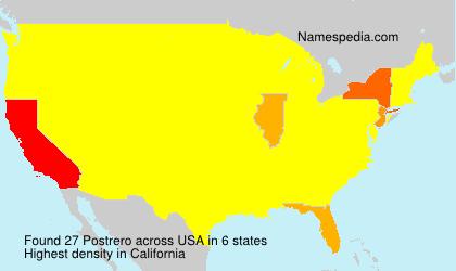 Familiennamen Postrero - USA