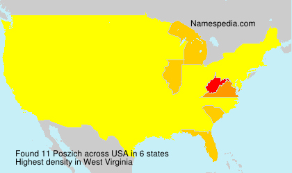 Surname Poszich in USA