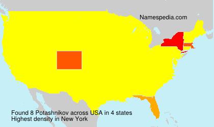 Surname Potashnikov in USA