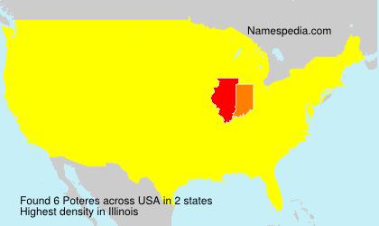 Familiennamen Poteres - USA