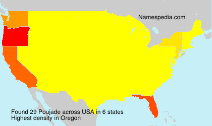 Surname Poujade in USA