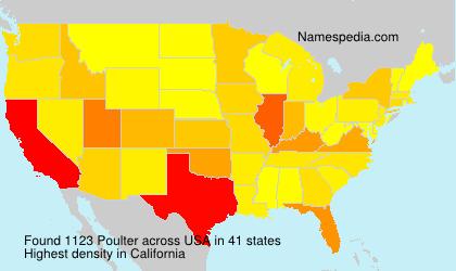 Familiennamen Poulter - USA
