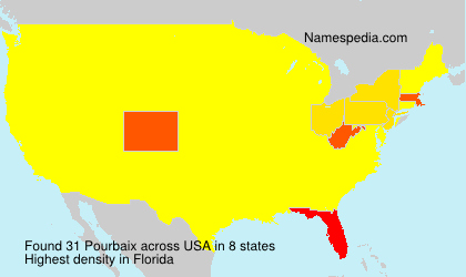 Surname Pourbaix in USA