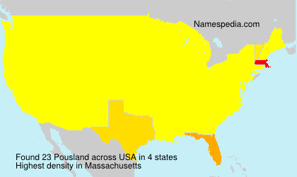 Surname Pousland in USA