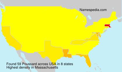 Familiennamen Poussard - USA