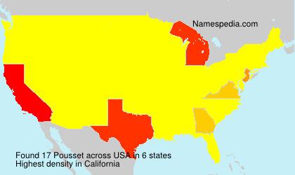Surname Pousset in USA