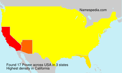 Surname Povee in USA