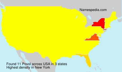 Surname Povol in USA