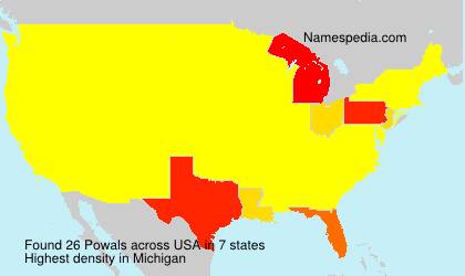 Surname Powals in USA