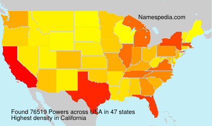 Surname Powers in USA