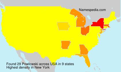 Familiennamen Powlowski - USA