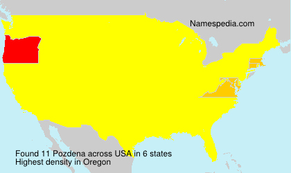 Surname Pozdena in USA