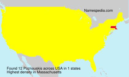 Surname Poznauskis in USA
