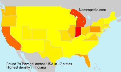 Surname Pozsgai in USA