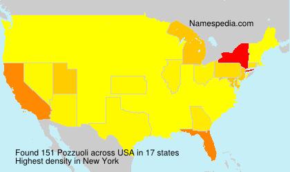 Surname Pozzuoli in USA