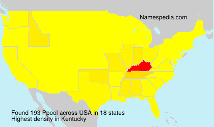 Surname Ppool in USA