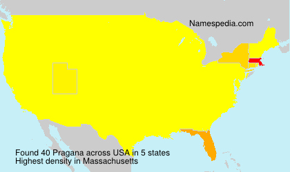 Surname Pragana in USA