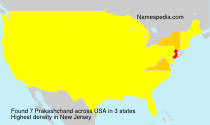 Surname Prakashchand in USA