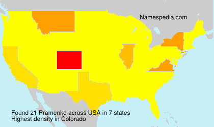 Familiennamen Pramenko - USA
