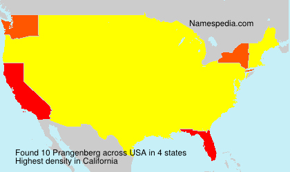 Surname Prangenberg in USA