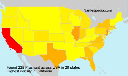 Surname Prashant in USA