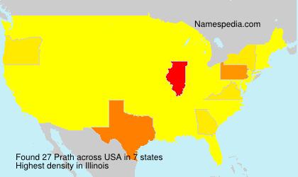 Surname Prath in USA