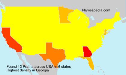 Surname Pratha in USA