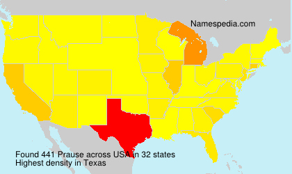 Surname Prause in USA