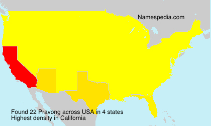 Surname Pravong in USA