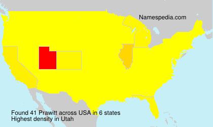 Surname Prawitt in USA