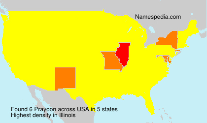 Surname Prayoon in USA