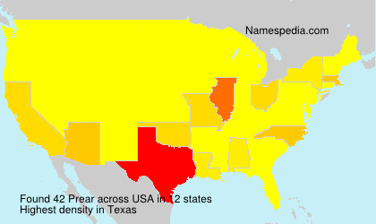 Surname Prear in USA